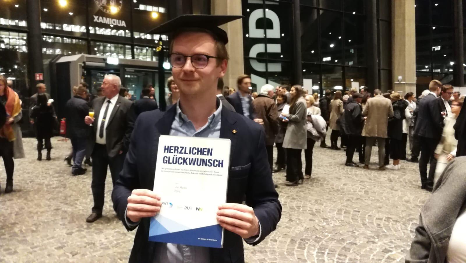 Master-Abschluss im Audimax der Ruhr-Universität Bochum 2019